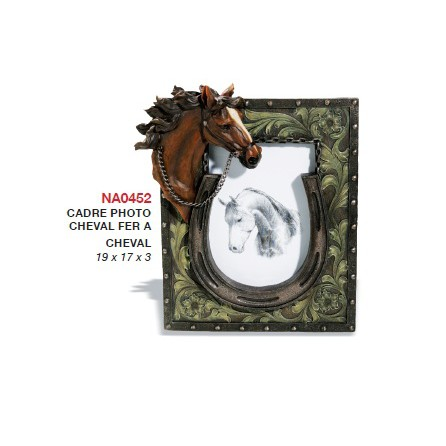 Cadre photo cheval fer à cheval