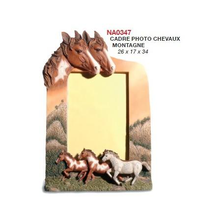 Cadre photo chevaux montagne