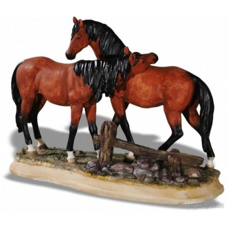 figurine couple chevaux