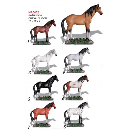 figurines Chevaux 15cm