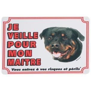 plaque de garde rottweiler