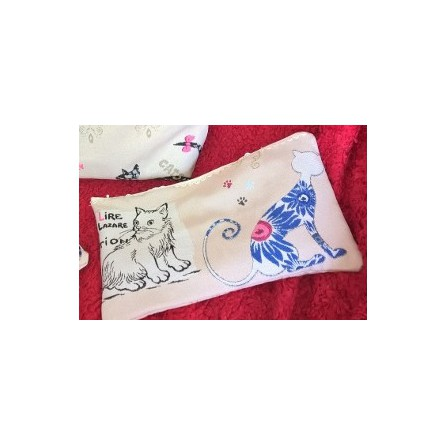 pochette motif chat