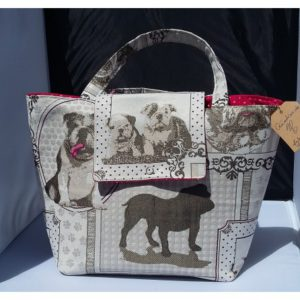 sac a main motif bouledogue