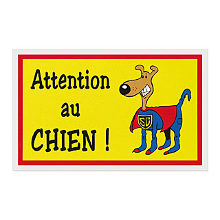 plaque de garde attention au chien humoristique