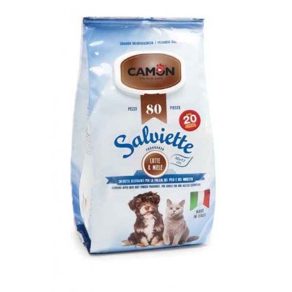 100 lingettes nettoyantes chien et chat