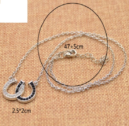 Collier fer à cheval strass