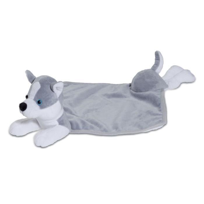 Doudou peluche chien Husky