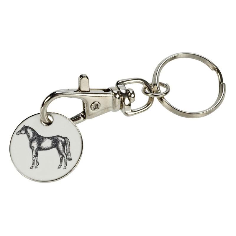 Porte-clés/jeton cheval et fer