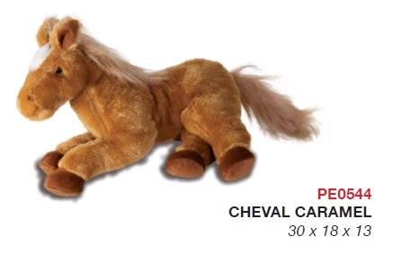 peluche cheval caramel