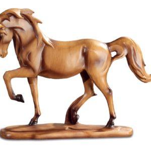 cheval imitation bois patte levee na0648