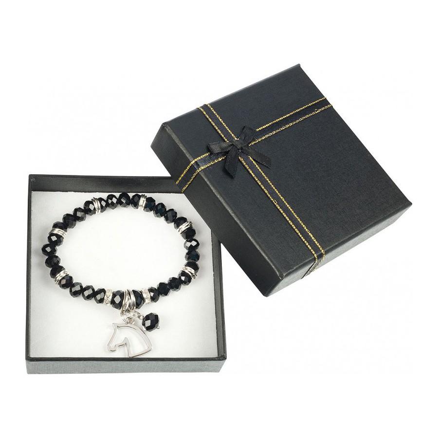 Bracelet Tête de cheval noir