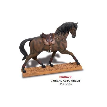 Figurine cheval avec selle classique