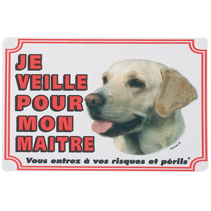 plaque de garde labrador sable