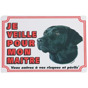 plaque de garde labrador noir