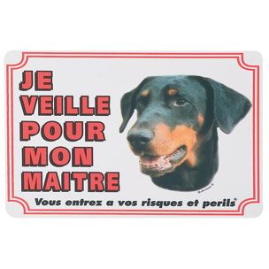 plaque de garde Dobermann