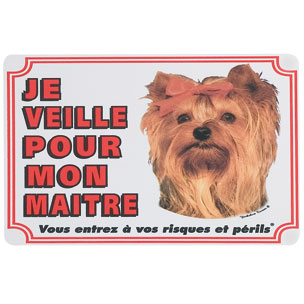 plaque de garde yorkshire terrier