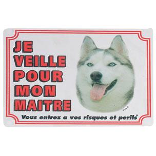 Plaque de garde husky