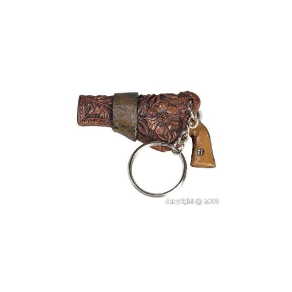 Porte clef résine pistolet