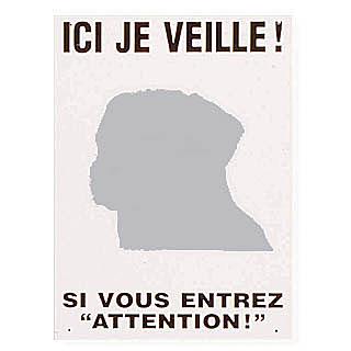 """Plaque de garde """"Ici je veille"""""""