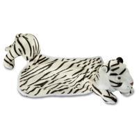 Doudou peluche tigre blanc