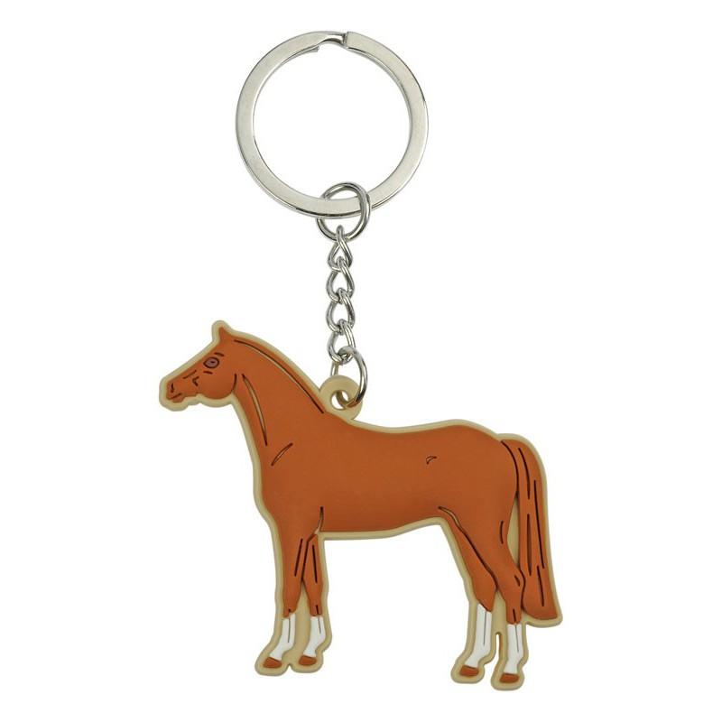 Porte-clés souple cheval