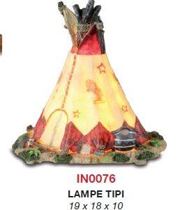 Lampe tipi veilleuse en résine.