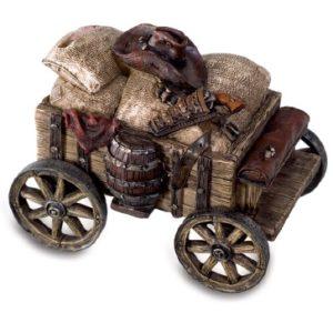 Tirelire chariot western