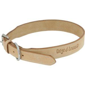 collier-cuir-naturel-pour chien diego-louna