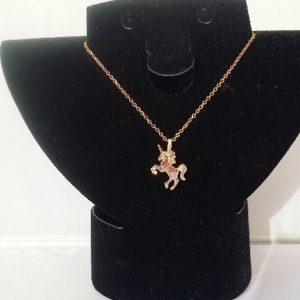 collier licorne dorée