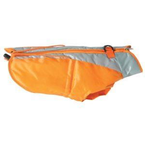 imperméable pour chien orange et gris