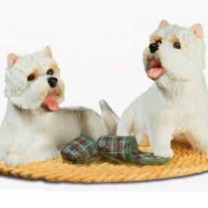 Figurine couple de scottish sur un tapis